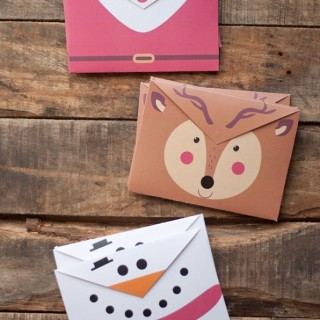 Pin of the Day | the cutest printable Christmas envelopes
