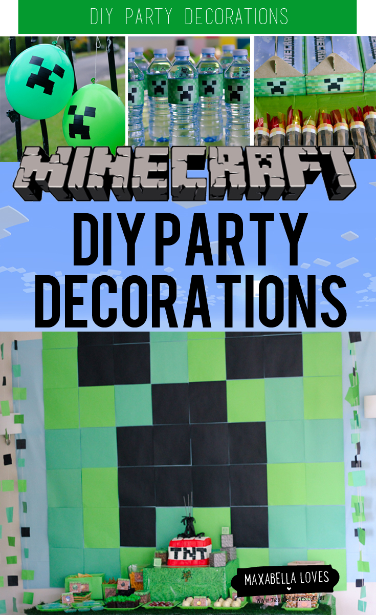 pinterest craft party ideas the best diy minecraft decorations especially on a 5179
