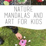 Nature mandalas and art for kids - #screenfreedom