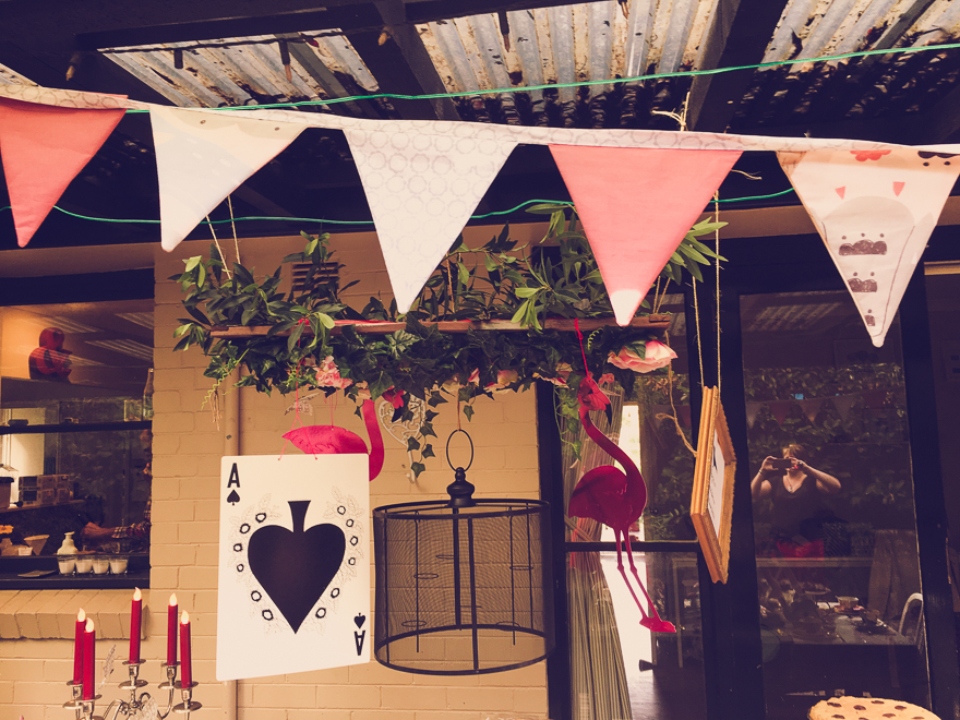 Alice in Wonderland Party on a budget - you can hang anything!
