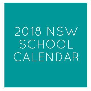 2018 nsw public school holidays calendar